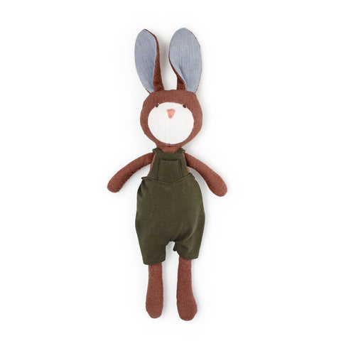 Lucas Rabbit in Overalls by Hazel Village | Wild & Whimsical Things www.wildandwhimsicalthings.com.au