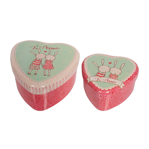 Rabbit Heart Tin Set by Maileg | Wild & Whimsical Things www.wildandwhimsicalthings.com.au