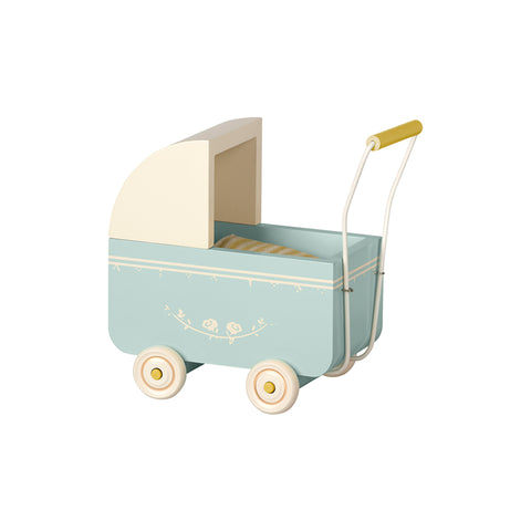 Micro Pram in Blue by Maileg | Wild & Whimsical Things www.wildandwhimsicalthings.com.au