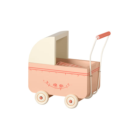 Micro Pram in Powder Pink by Maileg | Wild & Whimsical Things www.wildandwhimsicalthings.com.au