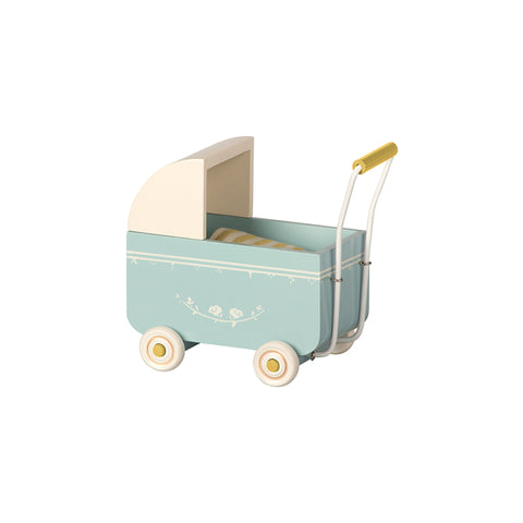 My Baby Pram in Blue by Maileg | Wild & Whimsical Things www.wildandwhimsicalthings.com.au