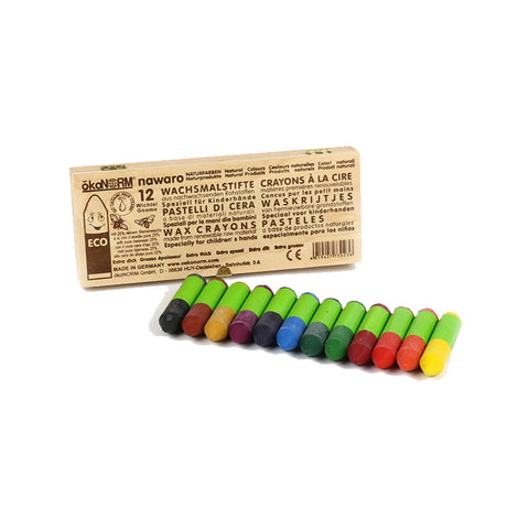 Nawaro 12 set Gnome Wax Crayons in a wooden box by ökoNORM | Wild & Whimsical Things www.wildandwhimsicalthings.com.au