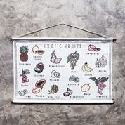 Numero 74 School Poster - Exotic Fruits
