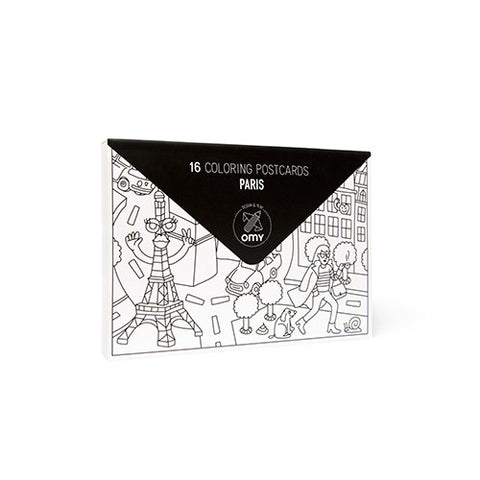 Paris Colouring Post Cards by OMY Design & Play | Wild & Whimsical Things www.wildandwhimsicalthings.com.au