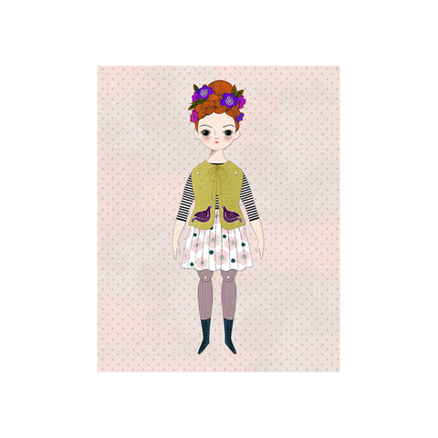 Florence Paper Doll Kit by Of Unusual Kind | Wild & Whimsical Things www.wildandwhimsicalthings.com.au
