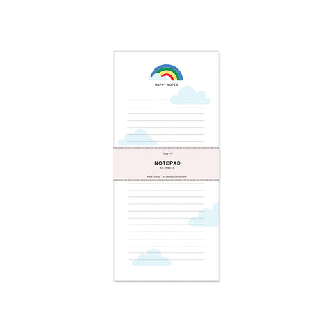 Rainbow Notepad by Of Unusual Kind | Wild & Whimsical Things www.wildandwhimsicalthings.com.au