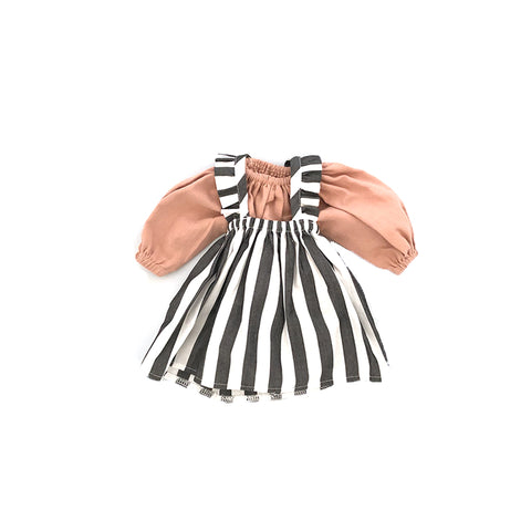Ruffle Striped Dress with Dusty Pink Top by Polka Dot Club | Wild & Whimsical Things www.wildandwhimsicalthings.com.au