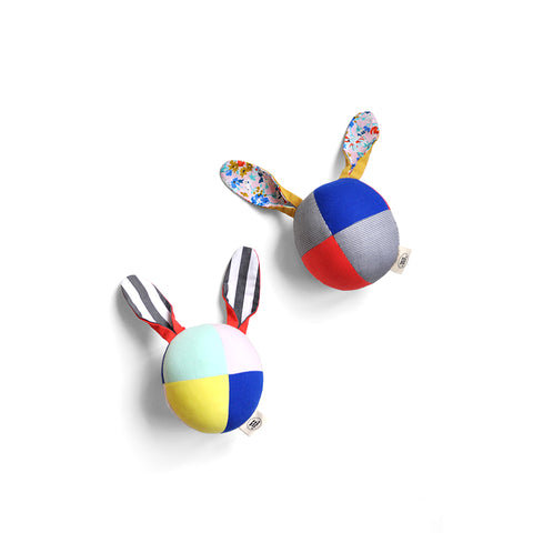 Rabbit Patchwork Rattle Ball by Polka Dot Club | Wild & Whimsical Things www.wildandwhimsicalthings.com.au