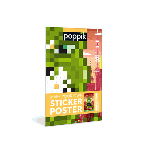 A Moster in Tokyo Pixel Art Poster by Poppik | Wild & Whimsical Things www.wildandwhimsicalthings.com.au