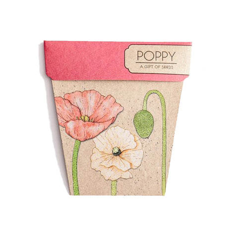 Poppy Gift of Seeds by Sow 'n Sow | Wild & Whimsical Things www.wildandwhimsicalthings.com.au