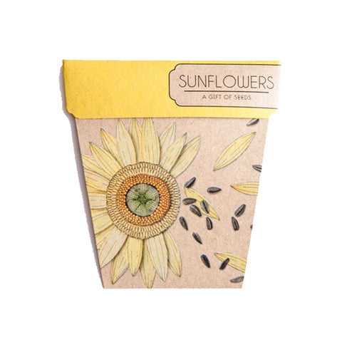 Sunflowers Gift of Seeds pack by Sow 'n Sow || Wild & Whimsical Things www.wildandwhimsicalthings.com.au