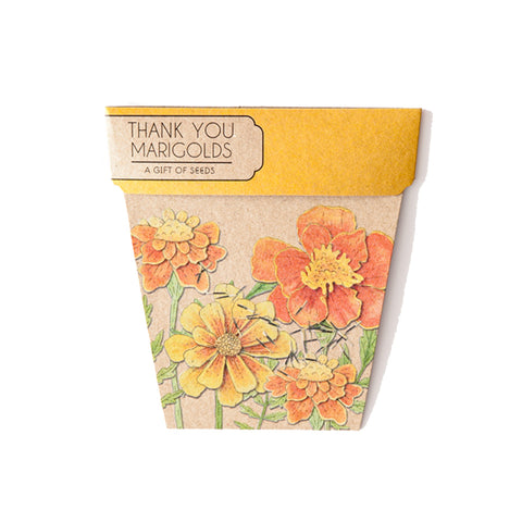 Thank You Marigold Gift of Seeds by Sow n' Sow | Wild & Whimsical Things www.wildandwhimsicalthings.com.au