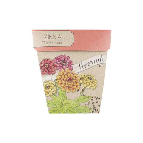 Zinnia Gift of Seeds by Sow n' Sow | Wild & Whimsical Things www.wildandwhimsicalthings.com.au