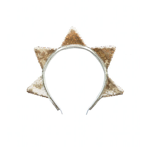 Woodstock Gold Sequin Star Headband