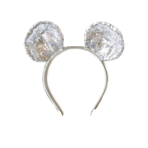 Woodstock Mouse Ear Headband - Silver Sparkles