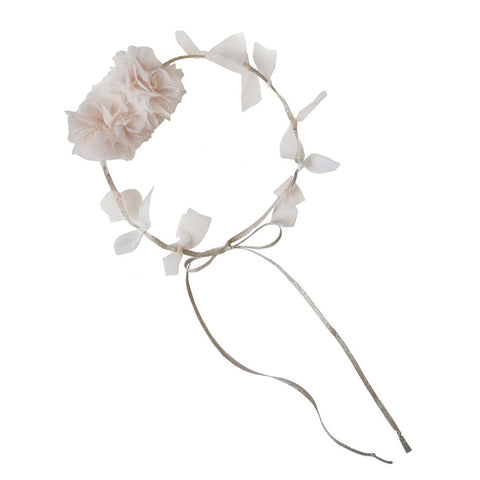 Pom Pom Head Tie - Silver by Woodstock | Wild & Whimsical Things www.wildandwhimsicalthings.com.au