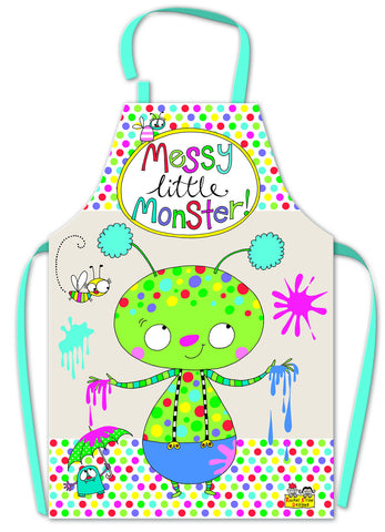 Kinderschürze - Messy little monster
