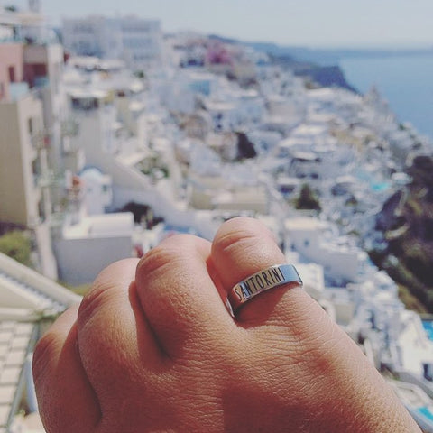 Travel Ring Santorini wanderlust, keiko, keiko conservation, wandering, travel, = - Thessalonike