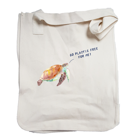 Plastic Free Honu Reusable Market Tote wanderlust, keiko, keiko conservation, wandering, travel, = - Thessalonike