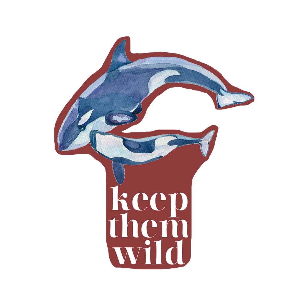 Keep Them Wild Sticker wanderlust, keiko, keiko conservation, wandering, travel, = - Thessalonike