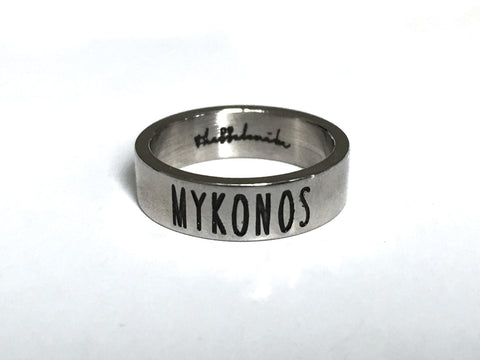 Travel Ring Mykonos wanderlust, keiko, keiko conservation, wandering, travel, = - Thessalonike