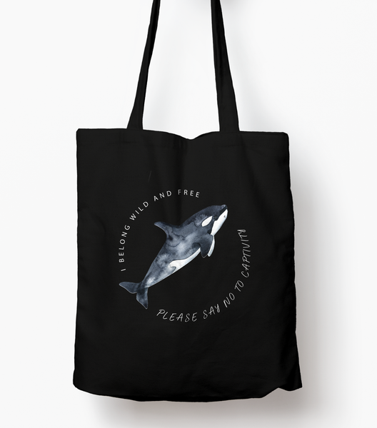 Orcas Belong In The Sea Reusable Tote wanderlust, keiko, keiko conservation, wandering, travel, = - Thessalonike