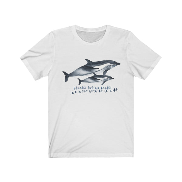 Thanks But No Tanks Striped Dolphins Tee wanderlust, keiko, keiko conservation, wandering, travel, = - Thessalonike