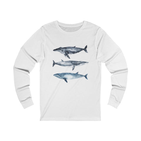 I Whale Always Love Whales Long Sleeve Organic White Tee wanderlust, keiko, keiko conservation, wandering, travel, = - Thessalonike