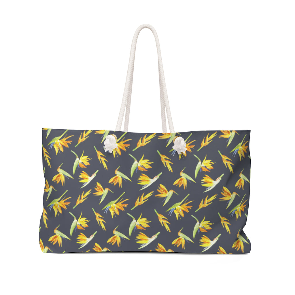 Birds Of Paradise Weekender Bag- Charcoal Navy wanderlust, keiko, keiko conservation, wandering, travel, = - Thessalonike