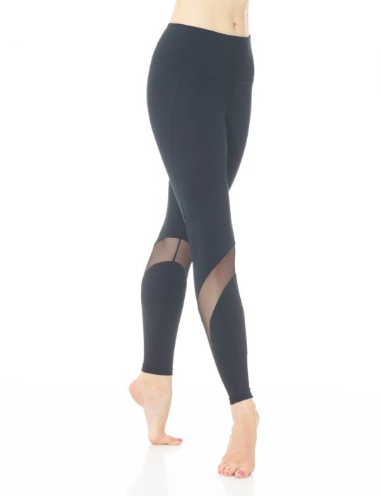 Mondor Black Tactel Leggings Mesh Inserts LADIES 3660