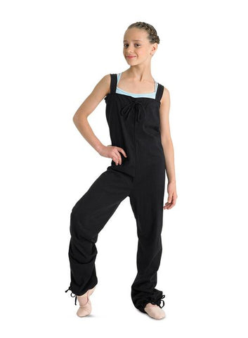 CU1217  Bloch Girls Tendu Warm Up Jumpsuit