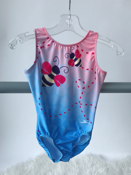 Motionwear Gym Itty Bitty Bumble Bee Leotard GIRLS 1782