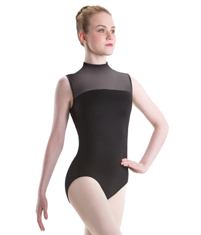 2648 Motionwear Ladies High Neck Zip Back Leotard Bodysuit