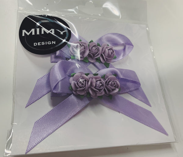 MIH006 Mimy Hair Blossom Clips with Bow