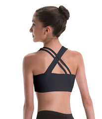 Motionwear 3034 Cross Back Bra Top Silkskyn Crop Top LADIES