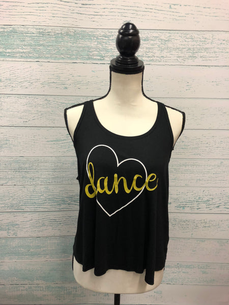 Motionwear Dance Heart Drape Tank 4504