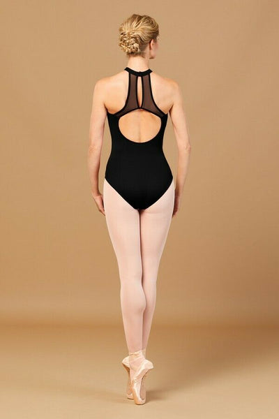 TWL5555 Bloch Nala Embroidered Halter Open Back Leotard Bodysuit (Tween)