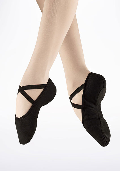 Bloch BLACK canvas ballet slipper S0277L