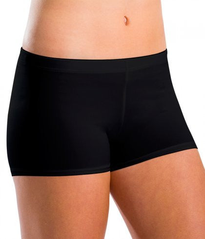 Motionwear Ladies Black Low Rise Shorts 7101L Silkskyn