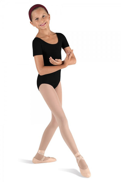 CL5402 Bloch Girls Short Sleeve Basic Leotard
