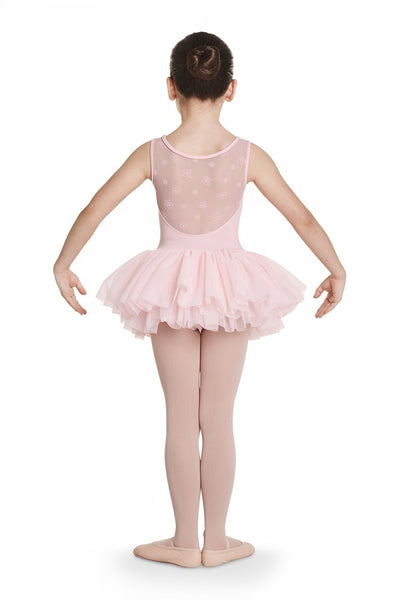 CL8785 Bloch Daisy Flock Back Tutu Dress Tank Leotard