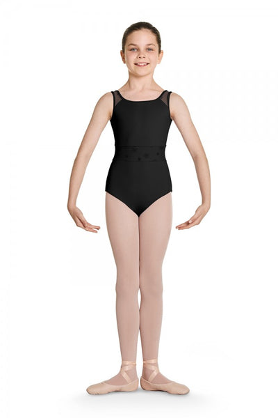 CL8795 Bloch Waist Panel Tank Leotard Bodysuit