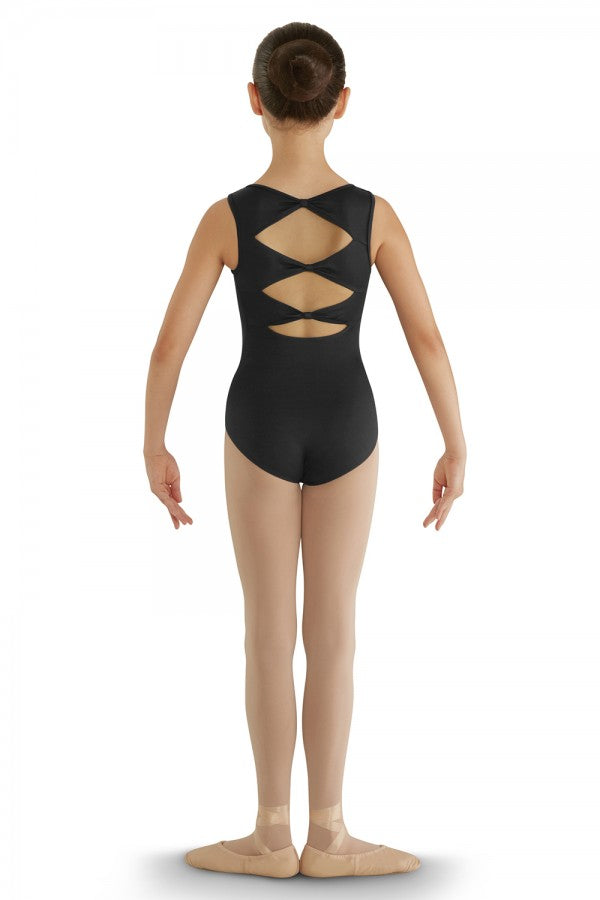 CL8835 Bloch Three Bow Back Tank Leotard