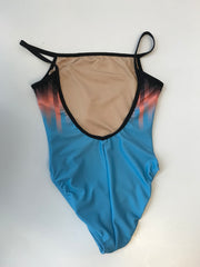 Motionwear 4232 Blue Sublimated Cami Leotard Bodysuit
