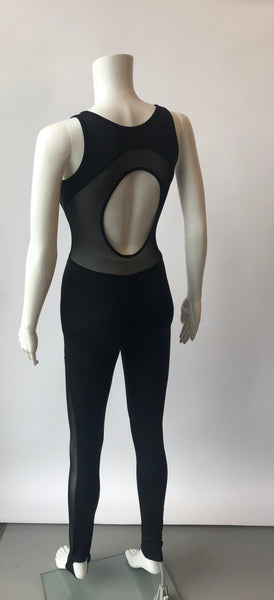 Bloch Mesh Panel Stirrup Unitard FM5096