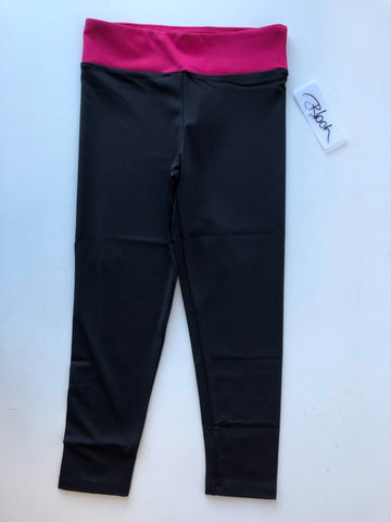BM251P Bloch Girls Contrast Band 7/8 Legging