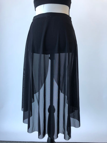 MS118 Mirella Open Front Drape Skirt Lyrical/Contemporary