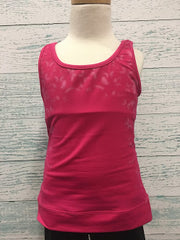 Bloch Children's Printed Mesh Panel Fitted Tank FT5022C