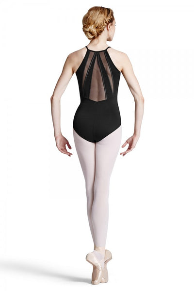 L8830 Bloch Powermesh Back Panel Cami Leotard Bodysuit