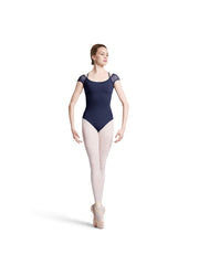 Bloch Ladies Scallop and Spot Mesh Cap Sleeve L8882